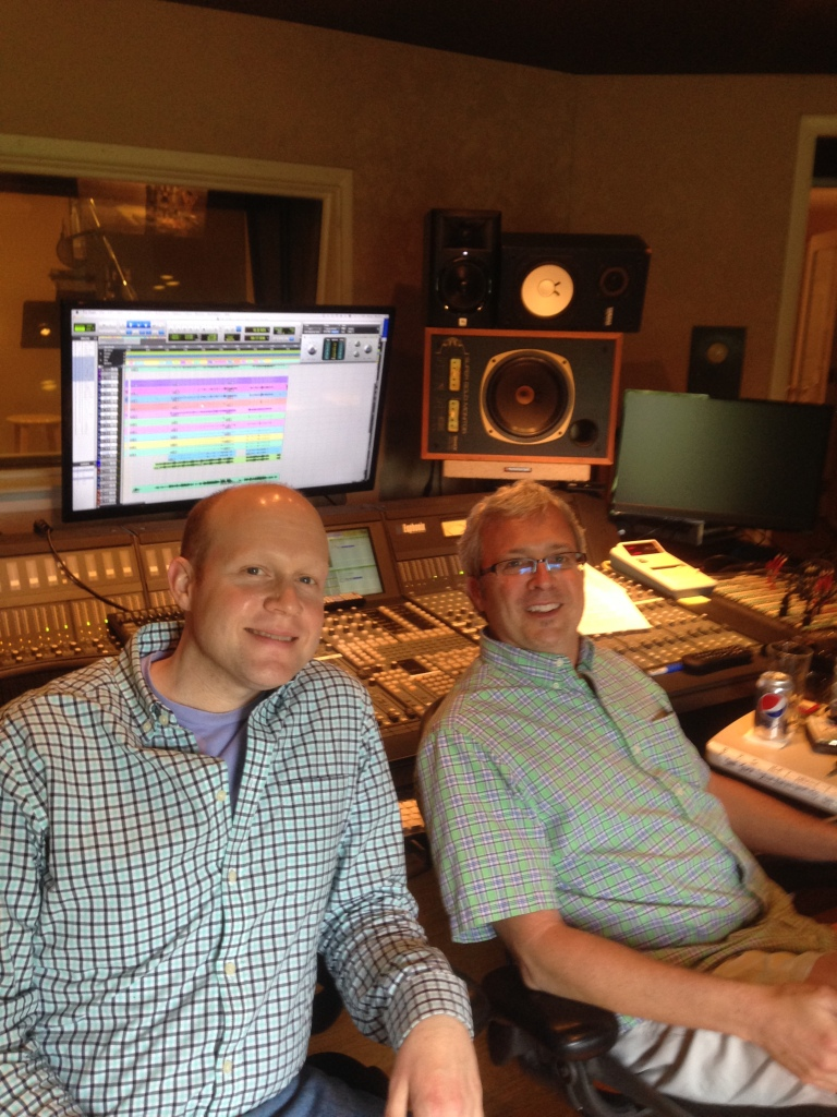 Rick Lee james and Engineer Doug Sarrett