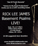 Be at Rick Lee James first ever LIVE album concert recording.