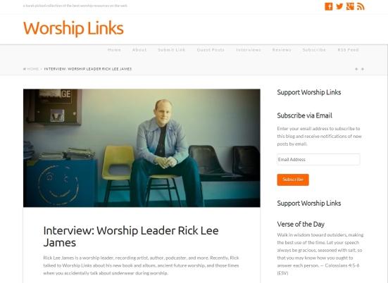 Read the full interview on WorshipLinks.us