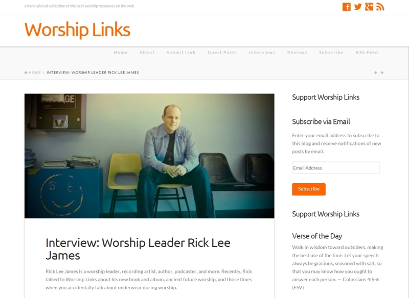 Read the full interview on WorshipLinks.us