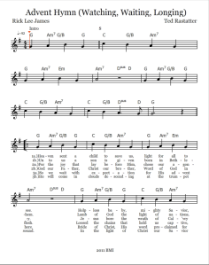 Advent Hymn Lead Sheet Pg 1