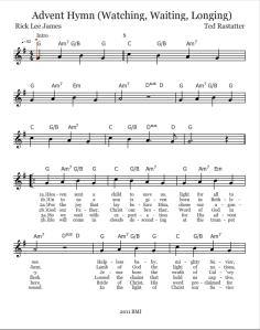 Advent Hymn Lead Sheet Pg 1