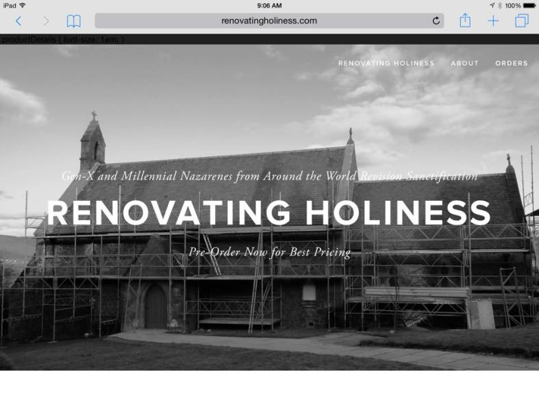 Renovating Holiness Cover Page