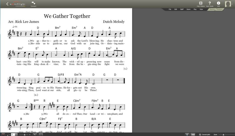 We Gather Together_Lead Sheet Pic